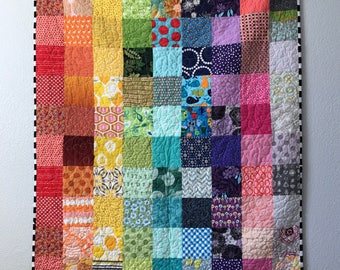 Stacked Rainbow Baby Quilt