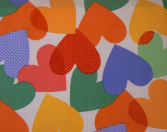 Big Heart Cotton Fabric by Michael Miller - 1 Yard