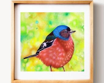 Birdy print, PRINTABLE art, Nursery animal prints, Baby animal prints for nursery, wall art, Woodland nursery, home decor, wall decor, print