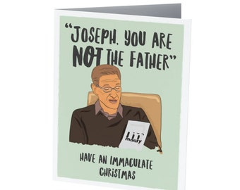 MAURY POVICH CHRISTMAS card |  Holiday Card  |  Funny Christmas Card