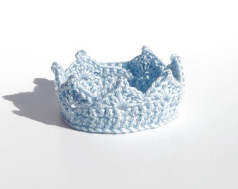 Crochet Crown for Baby Boy Adjustable Baby Boy Prince Crochet Crown Baby Boy Crown Photo Prop Princess Crown Newborn Baby Girl Crown Gift