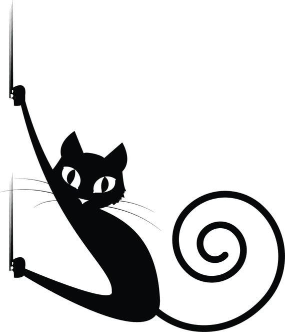 Black Cat Svg Black Cat Halloween Svg. Cat Halloween Svg