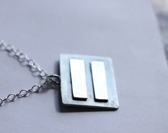 Sterling Silver Equality Necklace- Equal sign - Equality for all