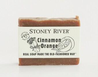 Cinnamon orange Natural Soap, Handmade Soap,  Cold Process Soap, Oily Skin Soap, Vegan Soap