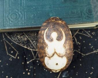 Wooden Goddess Ostara Egg - Transformation, Fertility, Magic, Pagan, Wicca, Witchcraft