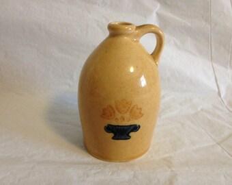 """Pfaltzgraff Miniature Stoneware Jug 4"""" Tall Yellow Glaze"""