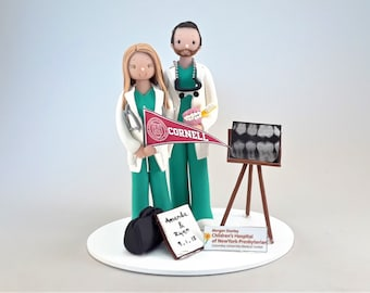 Unique Cake Toppers - Pediatrician & Dentist Customized Wedding Cake Topper