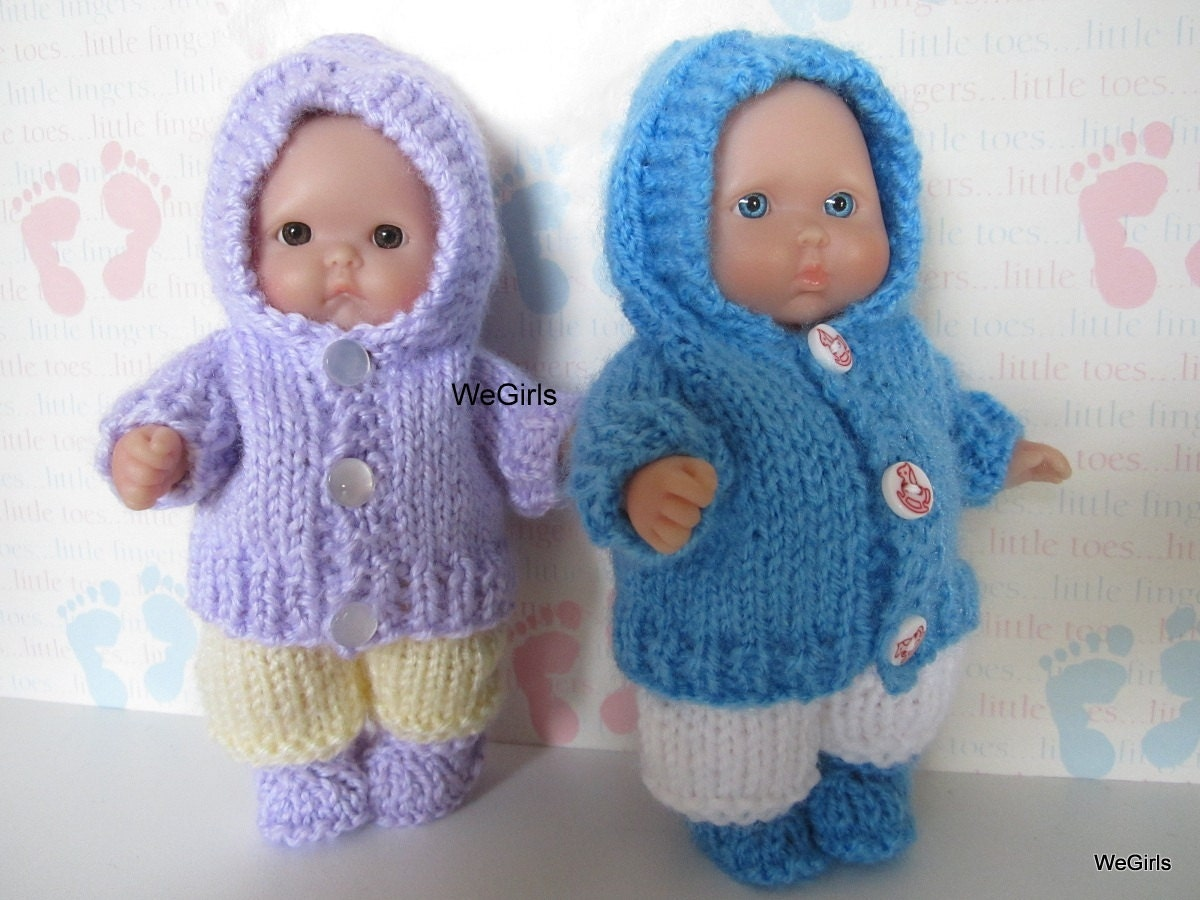 Excelente Baby Doll Clothes Knitting Patterns Foto - Manta de Tejer ...