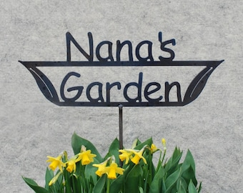 GREAT Mothers Day GIFT Nana's Garden - Mom's Garden  - Grandma's Garden - Metal Garden Stake Sign
