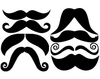 sc 1 st  Etsy & Mustache wall decal   Etsy
