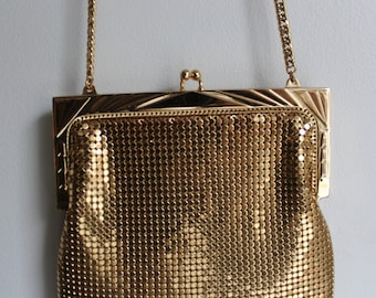 Vintage Gold Mesh Purse Whiting and Davis