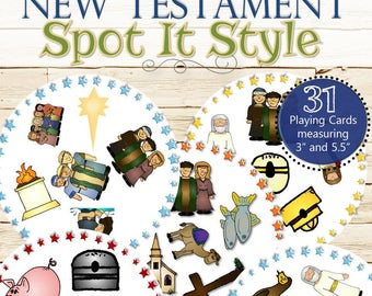 New Testament Spot It Style Find the Match - INSTANT DOWNLOAD