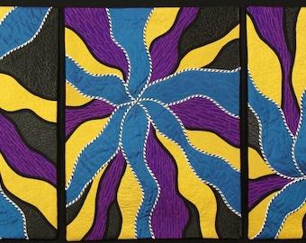 Handmade Art Quilt - HYDRA