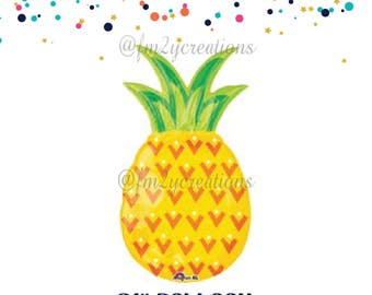 Pineapple Decor | Pineapple Balloon | Pineapple Party | Bachelorette Pineapple Party | Fruit Balloon Summer Pool Party | Hawaiian Luau Party