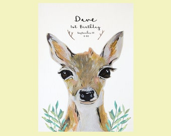 Baby deer invitation