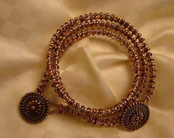 Morenci Triple Wrap Beaded Bracelet