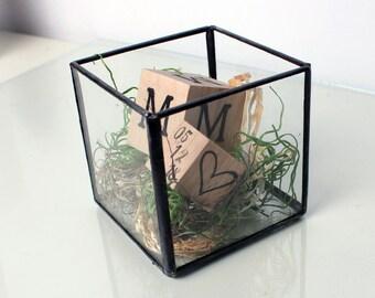 Monogram Baby Keepsake Glass Box - Nursery Decor - Baby's Room - Baby Shower Gift