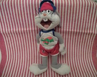 "Vintage 1996 Bugs Bunny Space Jam Looney Tunes Plush Stuffed Animal Doll 8"""