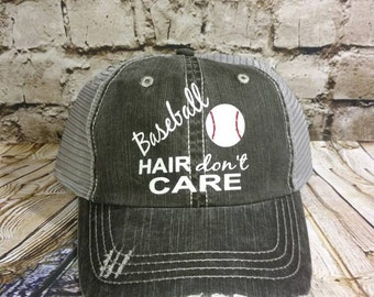Baseball hat, Personalized Trucker Hat, monogrammed hat, distressed trucker hat, vinyl monogrammed hat, baseball mom, baseball cap