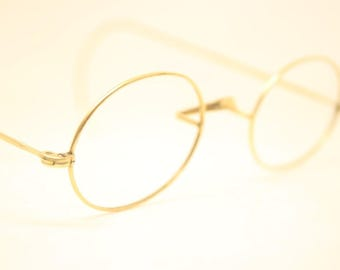 Antique Gold Filled Oval Cable Temple Eyeglasses
