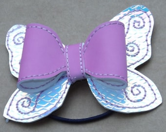 Solar Activated Purple Bow 3 inch