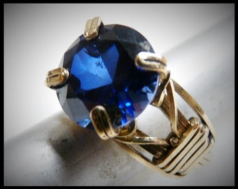 Beautiful Wire Wrapped Sapphire Ring