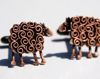 Sheep cufflinks