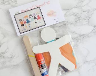 Papier-Puppe Marionette Kits Handwerk Gefälligkeiten für Kinder Waldorf-Pädagogik 6er-set