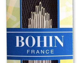 Bohin Sharps Big Eye Hand Sewing Needle Assortment - Sizes 3/9 - 15ct