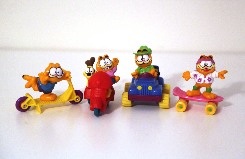 Vintage 80s Garfield mcdonalds complete set toys