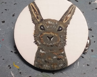 Hand Painted Bunny Pin