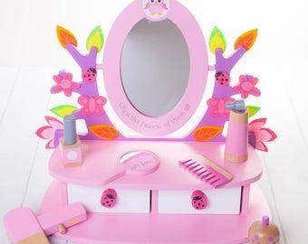 Personalised Childrens Vanity Mirror Set