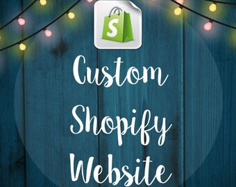 Custom Shopify eCommerce Website Design - Online store - Web Design -  eCommerce Website - Shop - Facebook Store