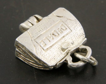 Vintage Sterling Silver Dr Dale Doctor Bag Charm Pendant Opens to Reveal a Baby