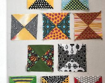 "Quilt squares, mostly vintage (10) 5-1/4"""