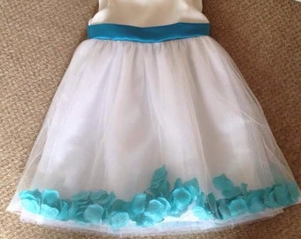 Girls Petal Bridesmaid Dress 7- 10 years