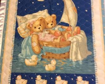 Teddy Bear reversible quilt