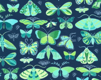 Green Masquerade From Michael Miller Joy by Tamara Kate Collection Quilt Fabric by the Half Yard