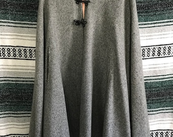 Vintage handmade millium lined cape