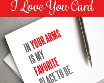 I Love You Card. Printable Card. Love Card. Anniversary Card. I Miss You Card. Long Distance Relationship Card. Instant Digital Download.