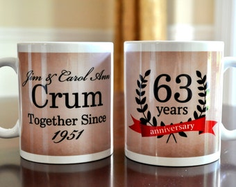 Personalized Coffee Mug Anniversary Together Since Year Coffee Mug Sold Individually