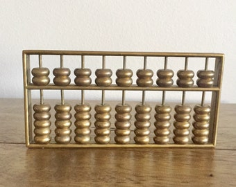 Vintage Brass Abacus Chinese Abacus Vintage Calculator