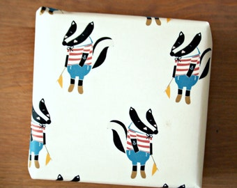 Wrapping Paper -Sailor Badger-