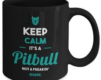 Pitbull Mug | Black - Keep Calm It's a Pitbull