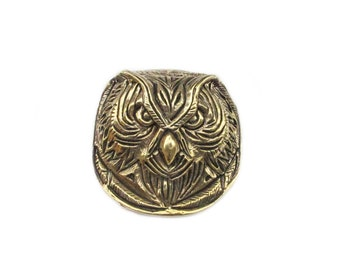 Brass buckle Owl