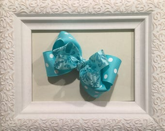 Beautiful Boutique Hair Bow, clip, turquoise