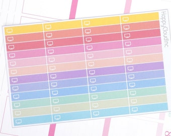 TV Labels Glossy Planner Stickers