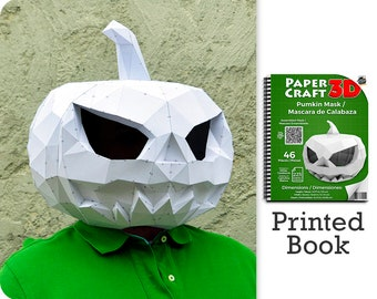 Pumpkin Mask Papercraft Book. A ready to assemble book with pre-scored, pre-cut pieces.