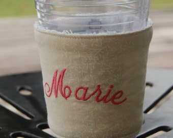 Personalized Reusable Coffee Sleeve Stocking Stuffer Coffee Cozy Coffee Cup Cozy