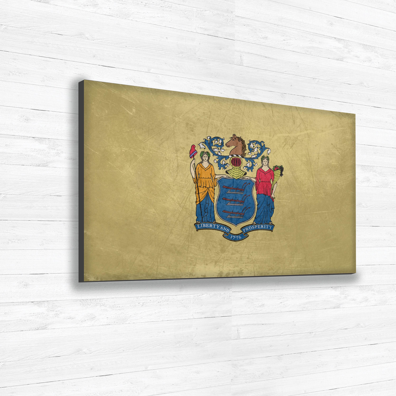 New Jersey Flag Canvas, Single Panel Large Canvas, Three Panel Large ...